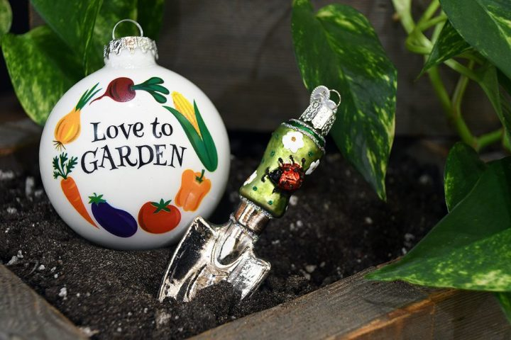 Love To Garden Ornament And Garden Trowel Ornament