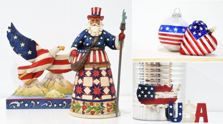 Patriotic, American-themed items from Bronner's Christmas Wonderland in Frankenmuth, Michigan.