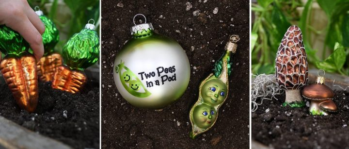 Produce Ornaments From Bronner's.