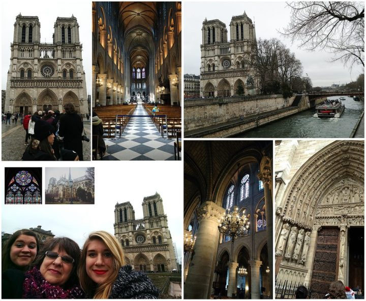 Notre-Dame Cathedral along the Seine River, Paris, France.