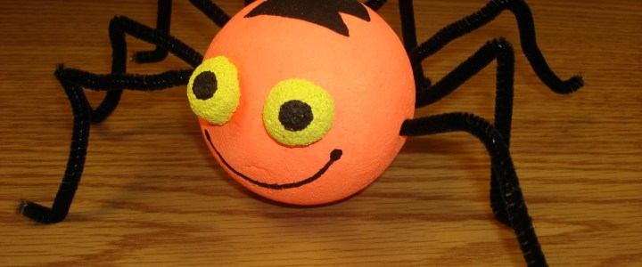 Spook-tacular Spider Halloween Craft for Kids!