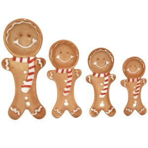 Ceramic Gingerbread Measuring Spoon Set