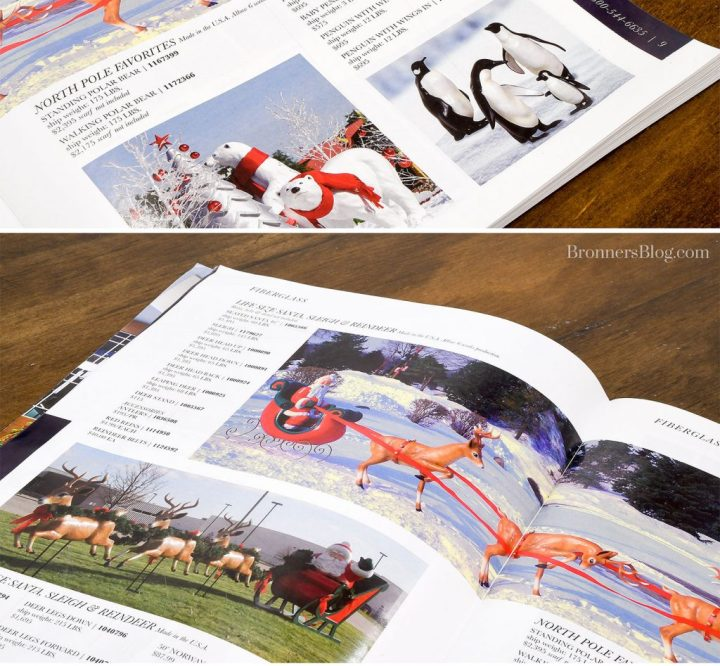 Bronner's Commercial Catalog Features Giant Fiberglass Figurines, Christmas Lights And More.