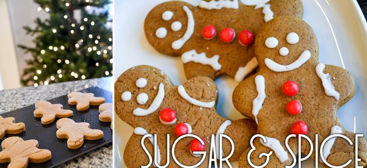Sugar And Spice Gingerbread Cookies At Christmas