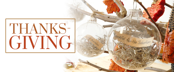 Thanks-Giving and DIY Gratitude Ornaments