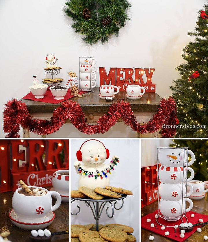 Hot Cocoa Bar With Snowman Theme