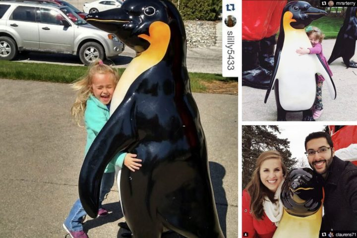 Bronner's Fiberglass Tuxedo Penguins Are Perfect For A Photo Op