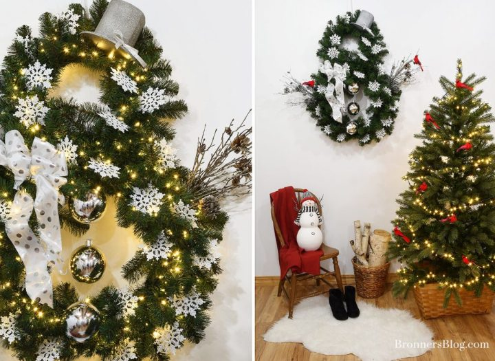 Snowman Wreath And Christmas Home Decorating Ideas With Snowmen And Cardinals