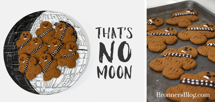 wookie cookies on Death Star serving tray