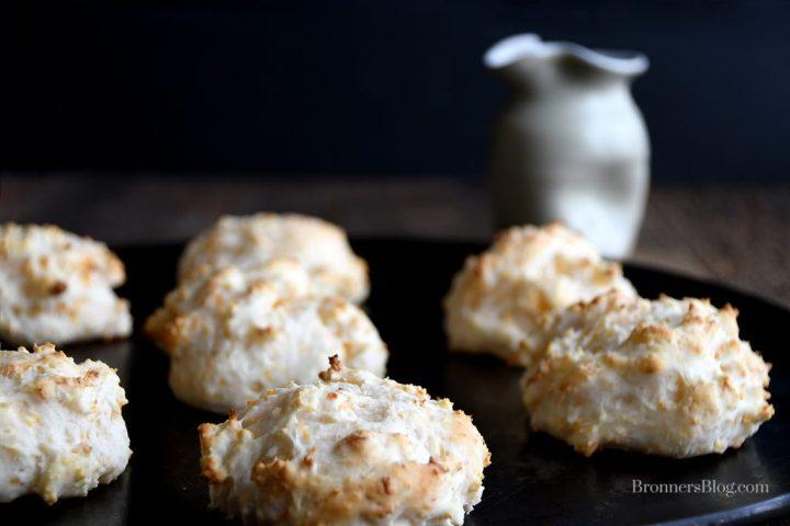 Cheese Garlic Biscuits on baking sheet