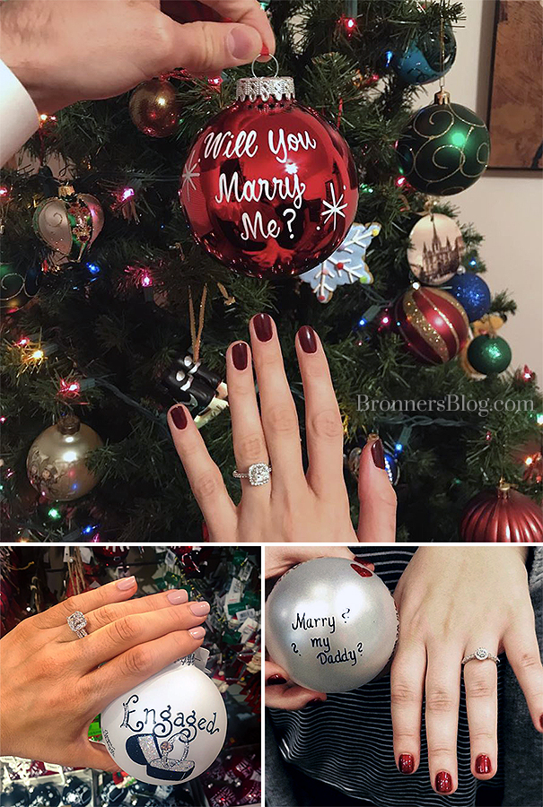 Proposals And Engagements At Bronner's Christmas Wonderland In Frankenmuth, Michigan