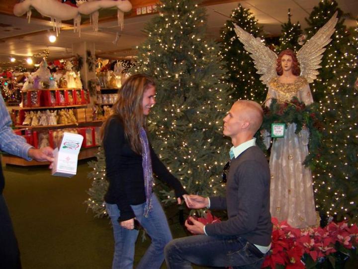 John and Erika's Engagement At Bronner's