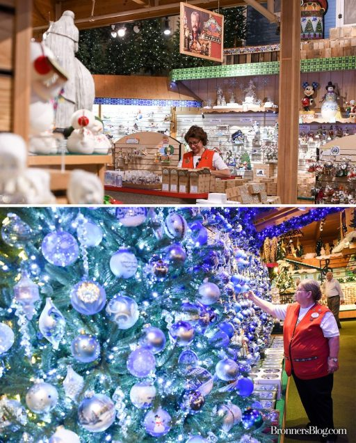 Staff Inside Bronner's, The World's Largest Christmas Store, in Frankenmuth, Michigan.