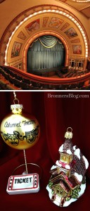Calumet Theater And Theater Themed Ornaments From Bronner's Christmas Wonderland.