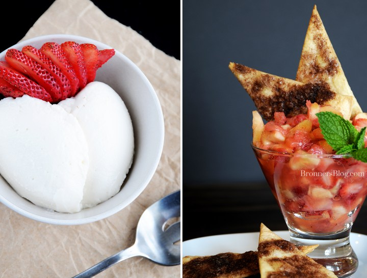 Dreamy Russian Cream Dessert And Homemade Fruit Salsa With Cinnamon Chips.