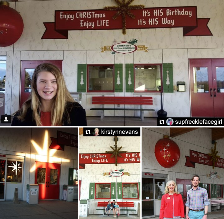 West Entrance At Bronner's Christmas Wonderland in Frankenmuth, Michigan.