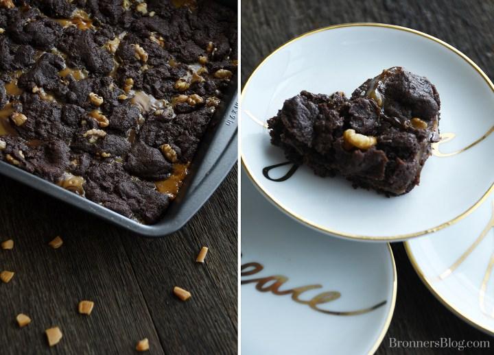 Caramel Layer Chocolate Squares Decadent Dessert