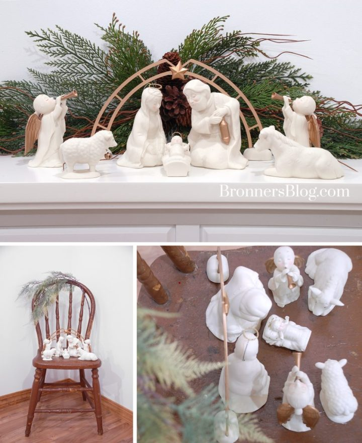 Department 56 white nativity set from Bronner's.