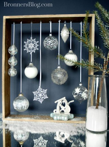 Christmas Ornaments With Nativity; Christmas Decorating Ideas