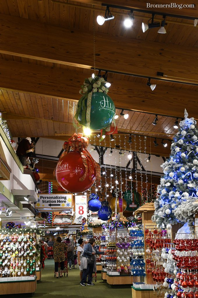 Personalized Ornaments In Section 8 At Bronner's Christmas Wonderland In Frankenmuth, Michigan