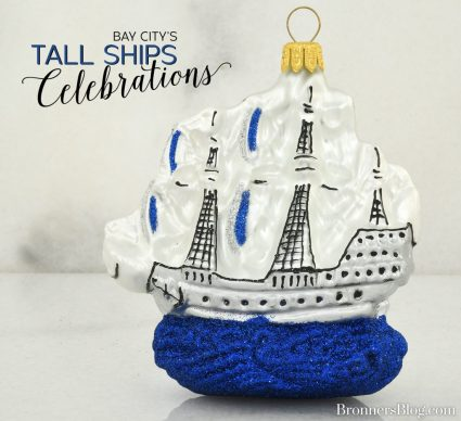 Sailing Ship Christmas ornament that looks similar to the vessels in Bay City's Tall Ships Celebration.