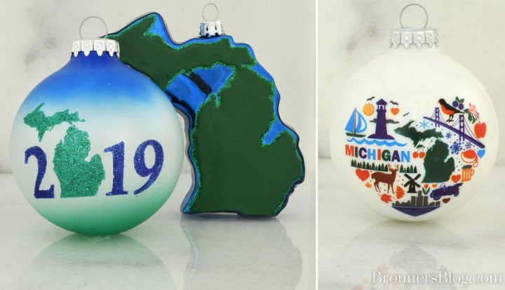 2019 Michigan Glass Ornaments