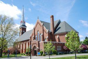 St. Lorenz Lutheran Church is a historical landmark in Frankenmuth, Michigan