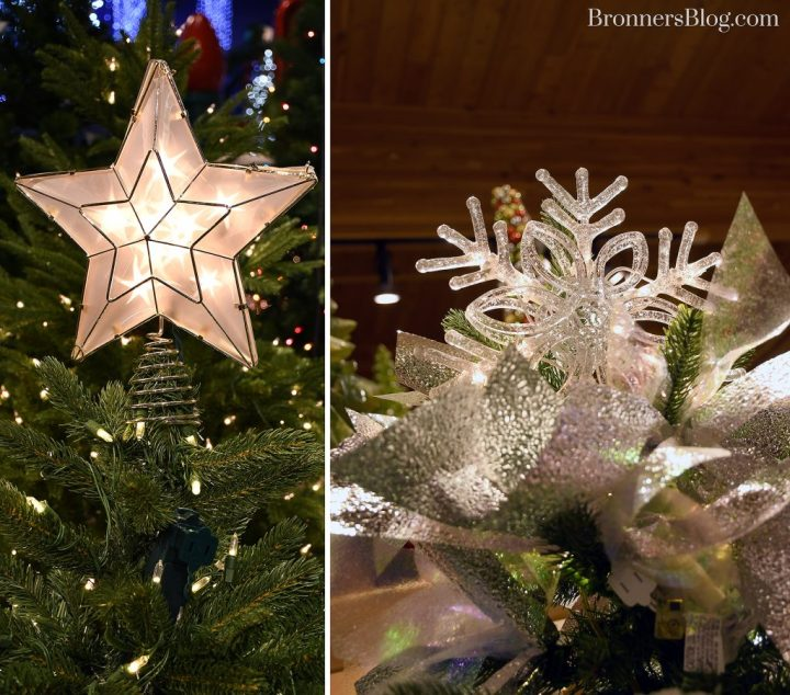 Lighted Christmas tree toppers should be plugged in separately.