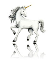 Unicorn custom art from Bronner's Christmas Wonderland