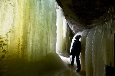 Eben Ice Caves in Marquette, MI