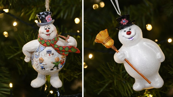 Frosty the Snowman Christmas ornaments available at Bronner's Christmas Wonderland