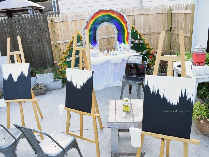 Bob Ross Painting Party