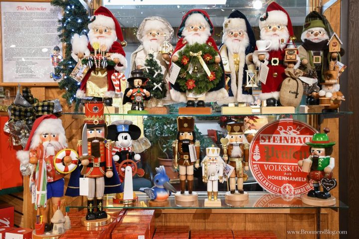 Collectible Steinbach and Ulbricht nutcrackers, made in Germany, on display at Bronner's CHRISTmas Wonderland in Frankenmuth, MI.