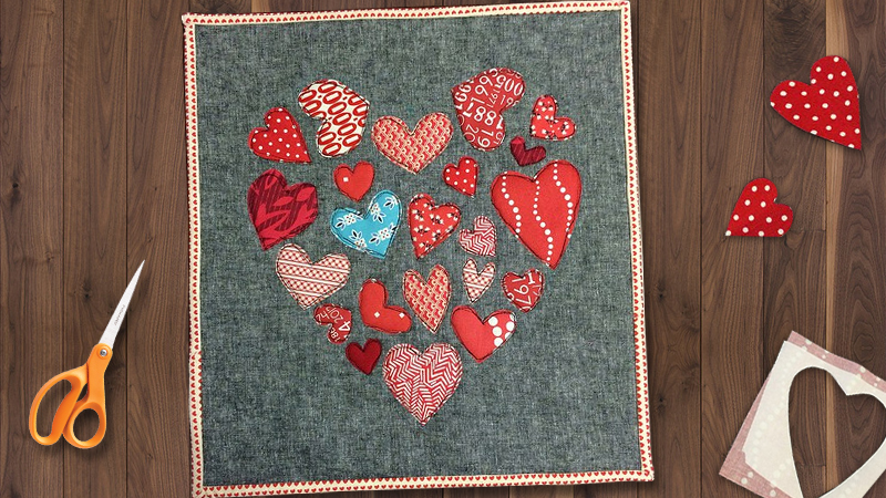 Creating a Heart of Hearts Mini Quilt