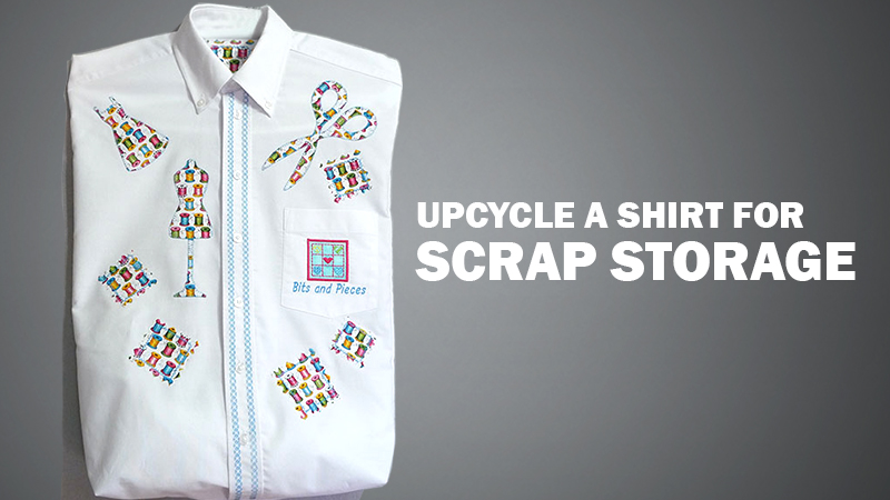 Upcycle a Shirt for Scrap Storage – FREE Design