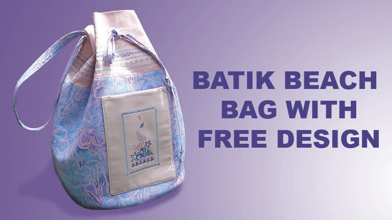 Batik Beach Bag with FREE Seashell Design