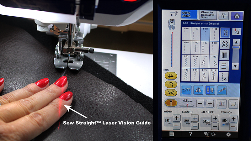 Sew Straight Laser Vision Guide Quilting Layer 53 54