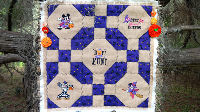 Mickey & Friends Halloween Wall Hanging