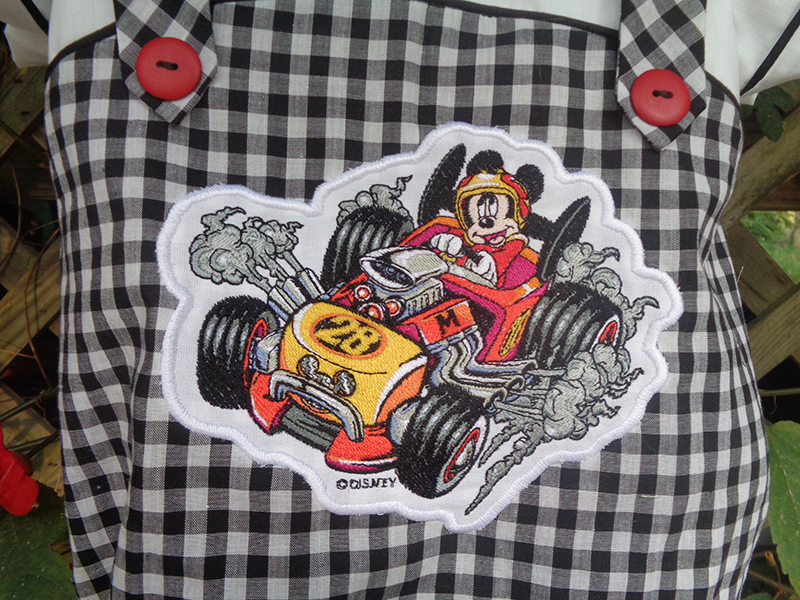 Image 21 Mickey Roadster embroidery close