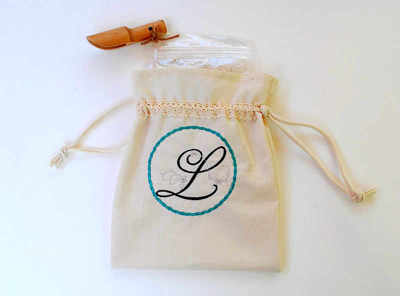 Drawstring Pouch Bath Salts