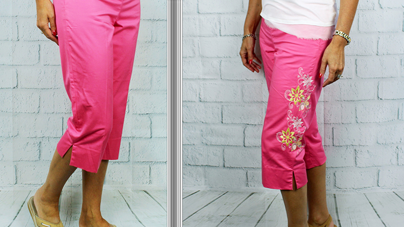 Embellish Pant Legs with Embroidery