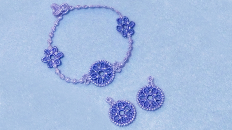 Tips for Embroidering Lace Jewelry