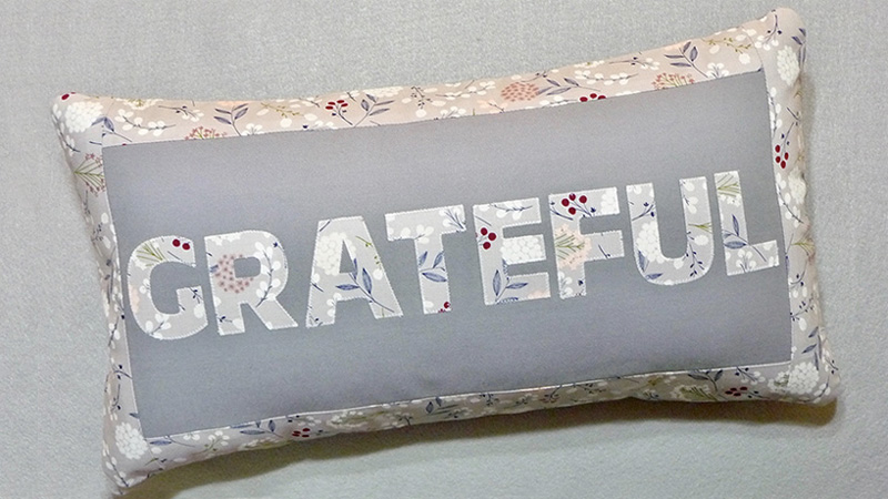 Foot of the Month: Grateful & Blessed Pillows