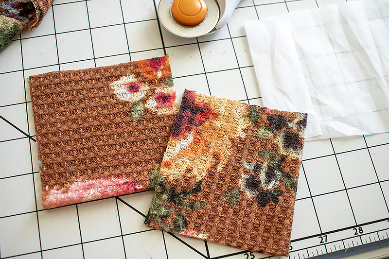 two fabric pieces