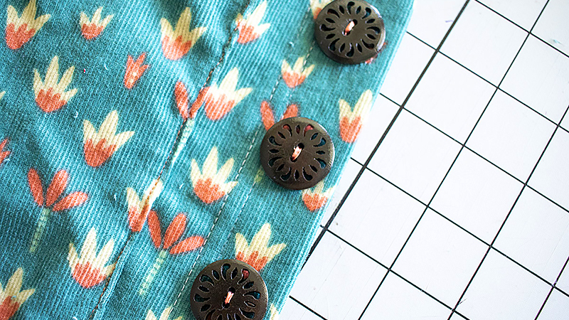 Make Buttonholes and Sew Buttons