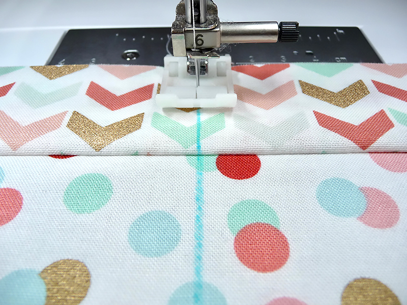 sewing on marked line