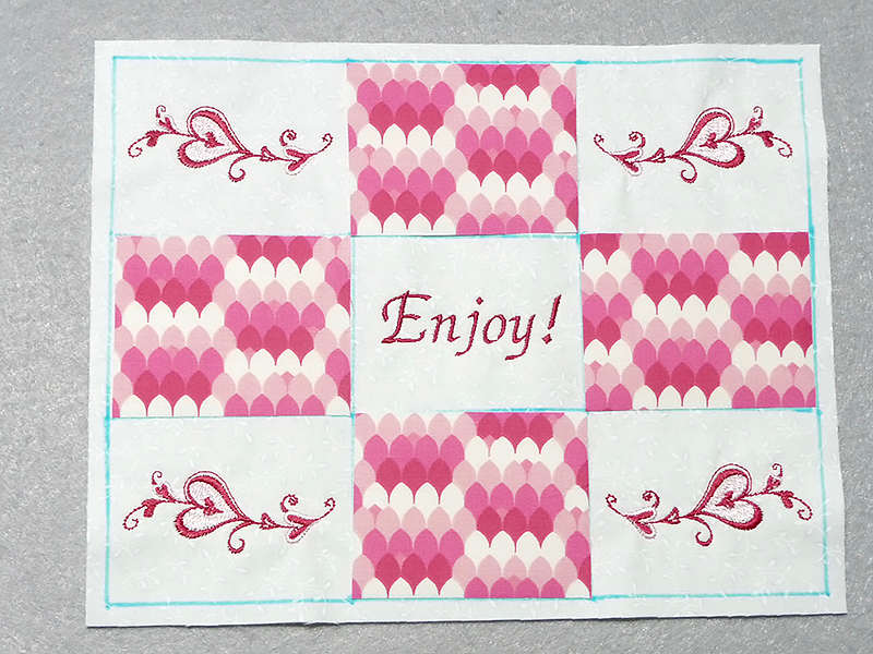 add applique in rectangles