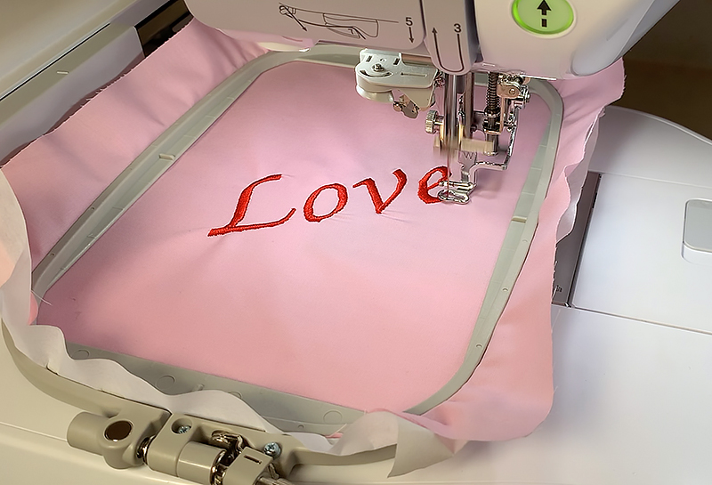 Embroidering Letters