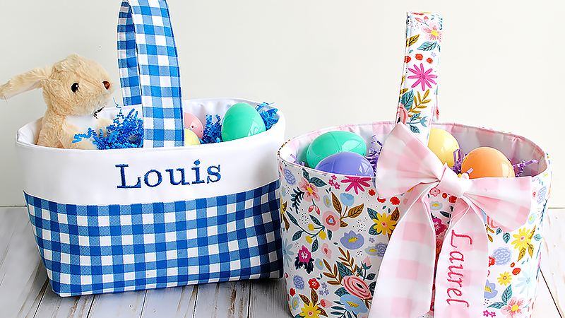 Sew a Fabric Easter Basket