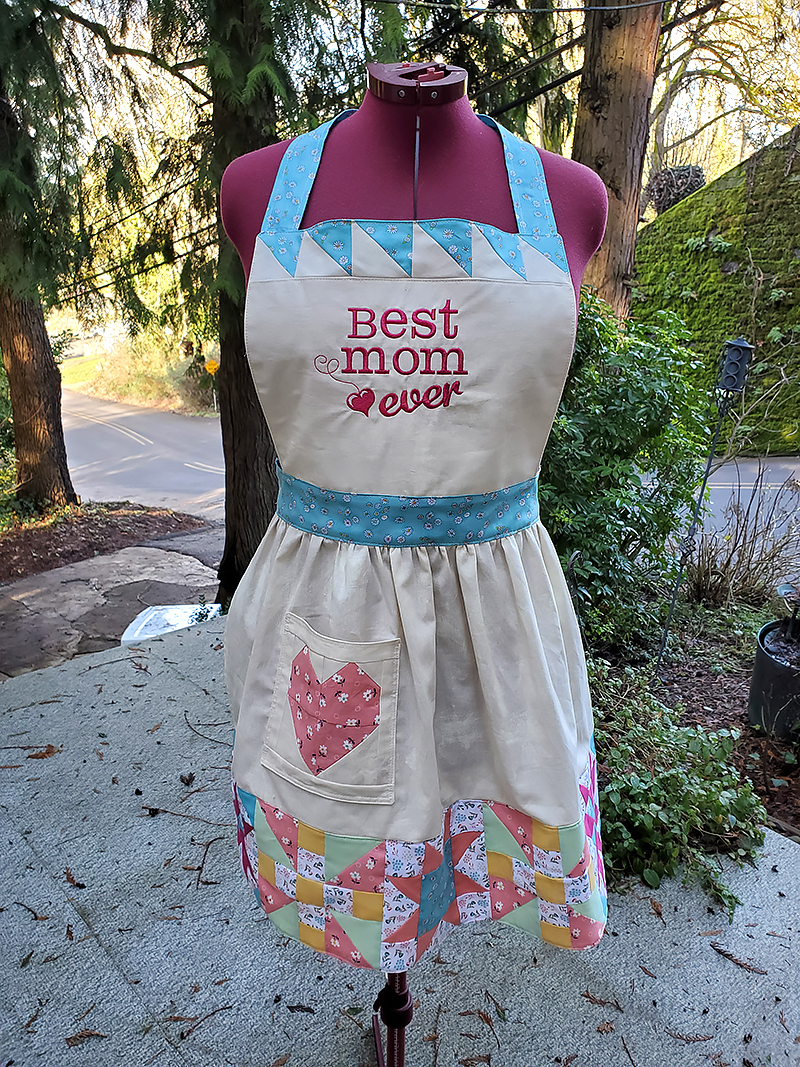 completed apron